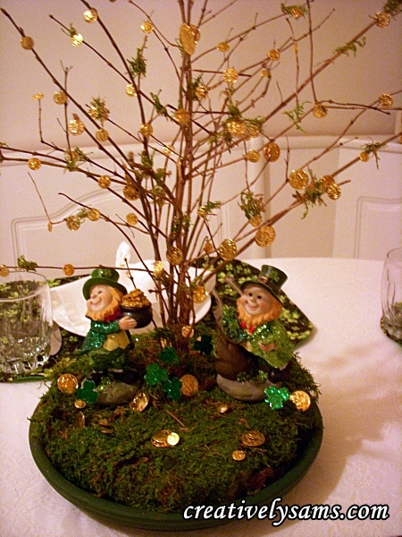 St. Patrick's Day Centerpiece | Creatively Sam's