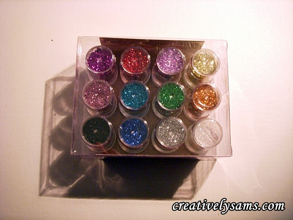 12 colors of glitter