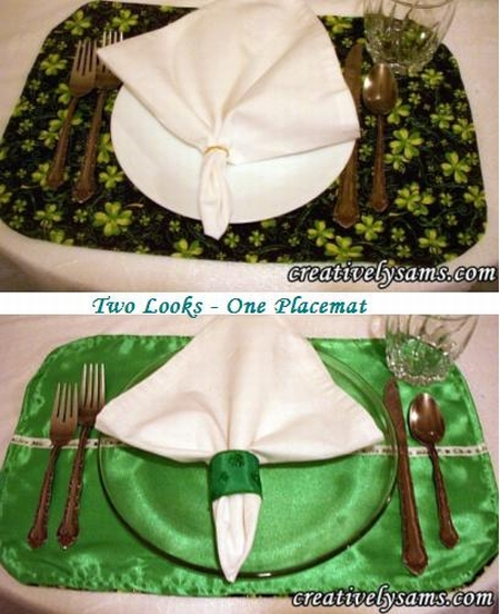 St. Patrick's Day Reversible Placemat
