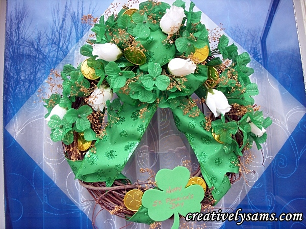 St. Patrick's Day Door Wreath