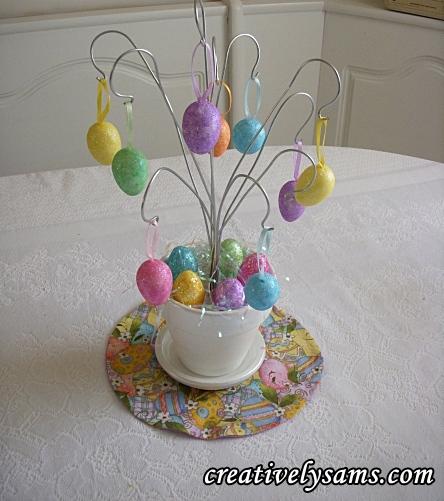 Diy easter egg ornament treecreatively sam 39 s - Easter egg tree decorations ...