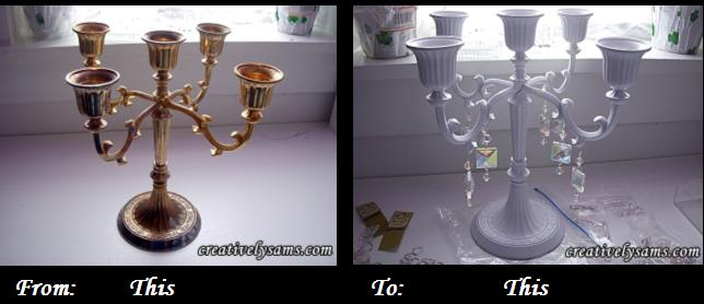 candelabra before & after
