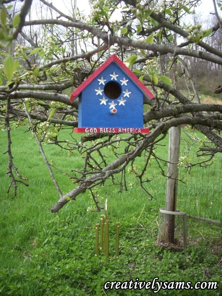 Patriotic Bird House, Patriotic Bird House Wind Chime