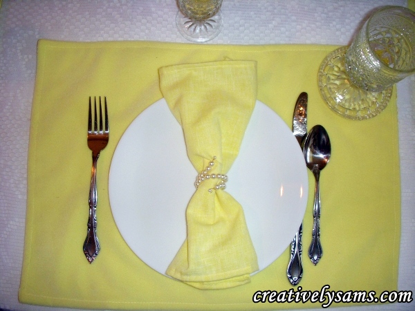 Yellow tablescape Place Setting