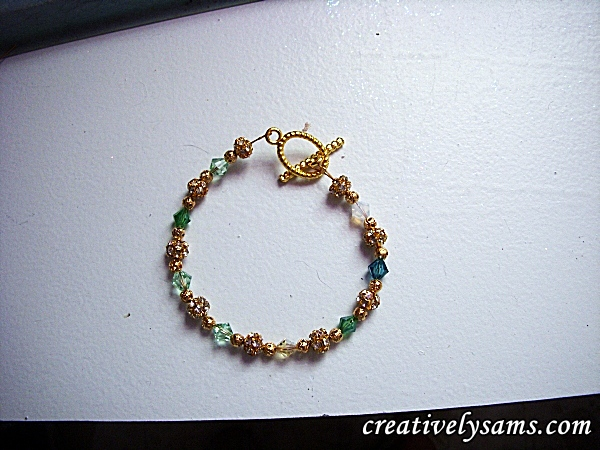 Finished Birthstone Bracelet