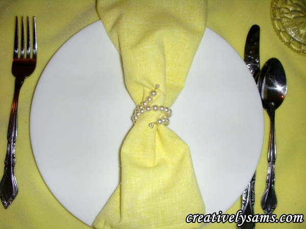 Pearl Napkin Ring Tutorial