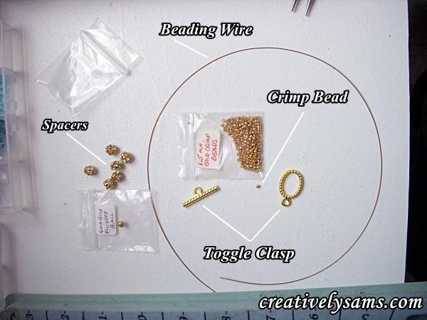 Supplies for Birthstone Bracelet