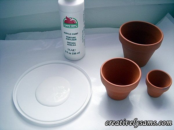 paint supplies for Terra Cotta Wind Chime