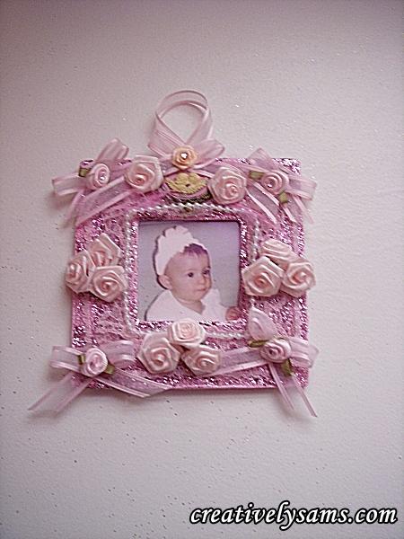 finished frame ornament