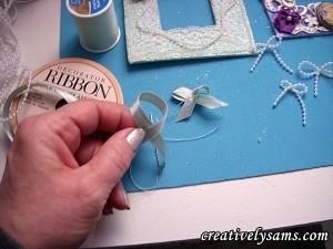 making ribbon bows