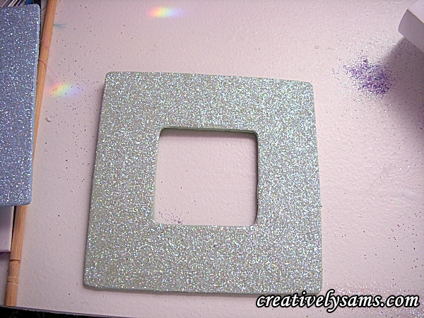remove excess glitter