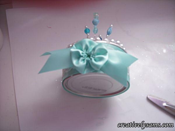 Aqua add ribbon yo yo