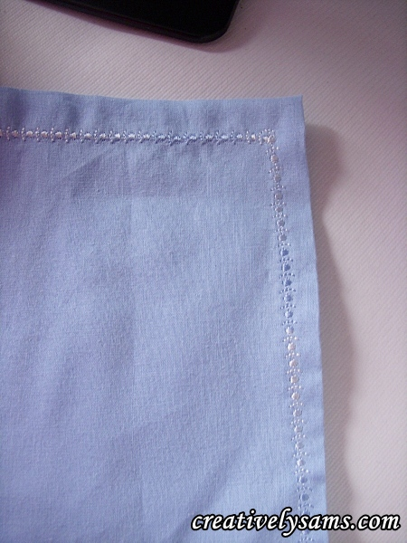 Finished Napkins with decorative stitches