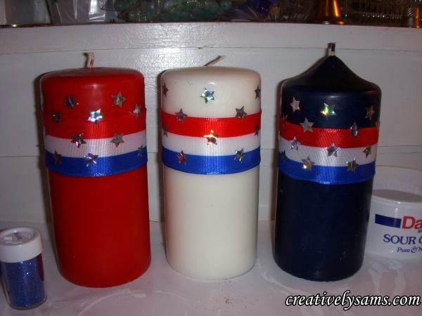 Patriotic Decorated Candles