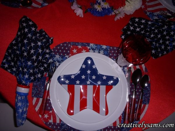 Flag Place Setting..