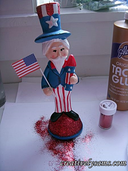 Glittered Uncle Sam