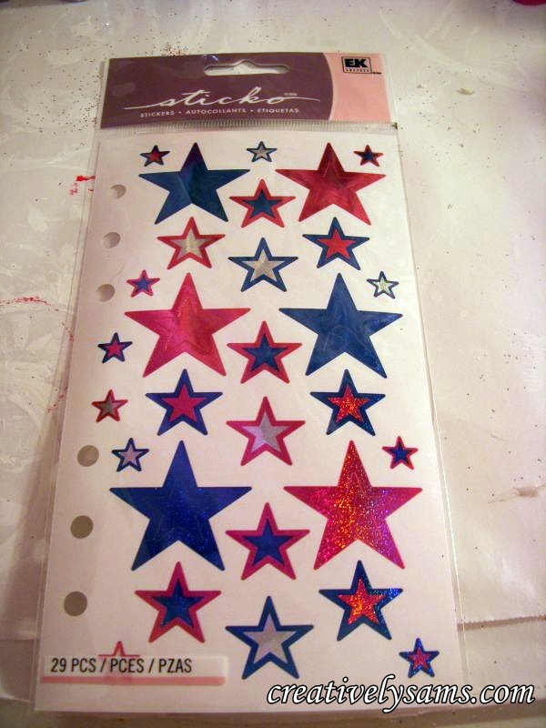 Patriotic Star Stickers