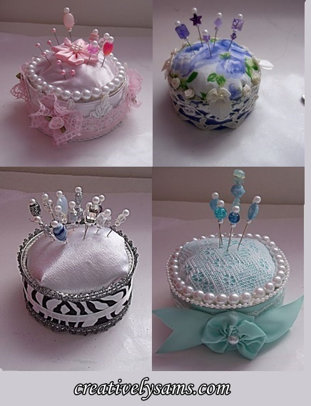 Diy Pin Cushions - tutorialCreatively Sam's