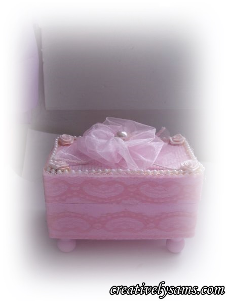 Finished Shabby Chic Gift Box