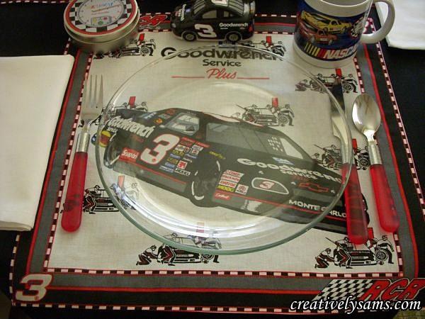 NASCAR Tablescape Place Setting