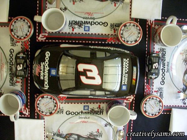NASCAR Tablescape Cookie Jar