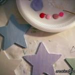 Pearl paint on stars