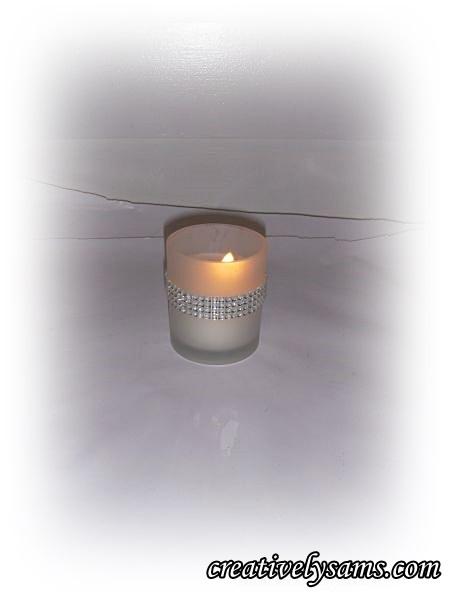 Decorating a Votive Candle Holder - Rhinestones