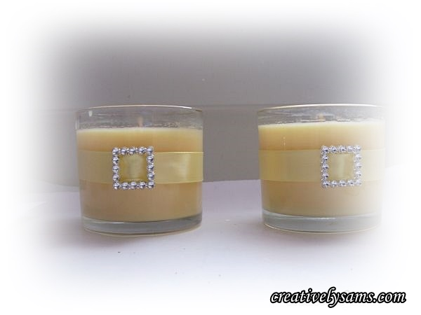 Decorating a Votive Candle Holder-Ribbon & Buckles