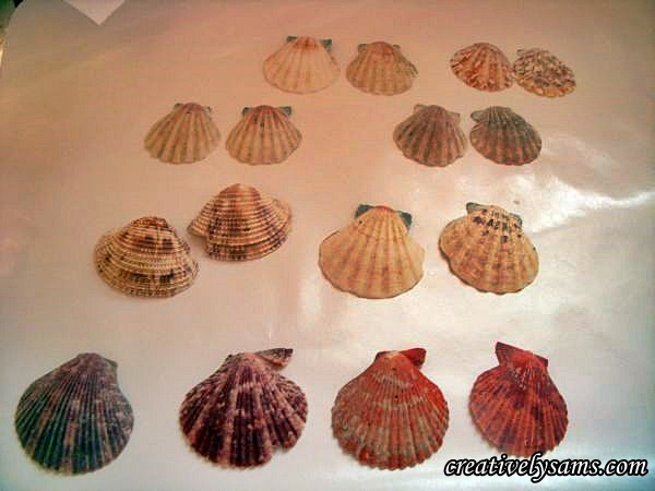 Glittered Shell Ornaments