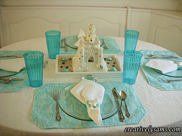 Turquoise TableScape & Centerpiece