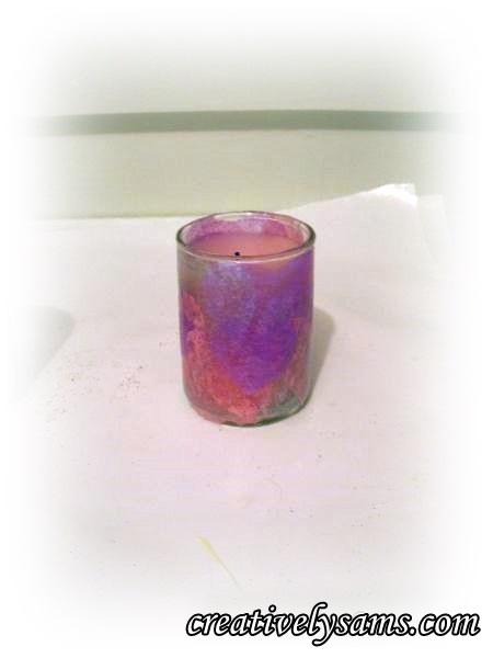 Decorating a Votive Candle Holder-Tissue Votive Holder