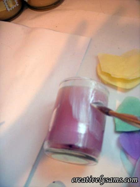 Decorating a Votive Candle Holder