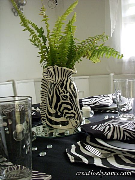Zebra Tablescape Centerpiece