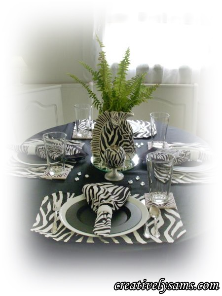 Zebra Tablescape