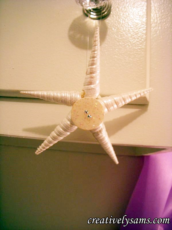 Finished Star Shell Ornament