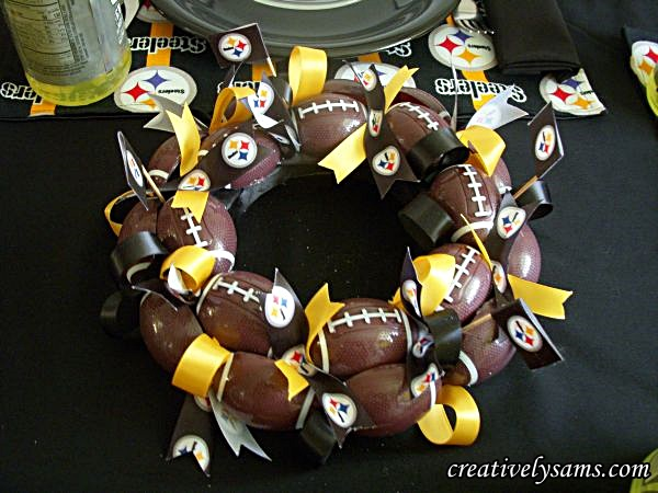 Steeler Tablescape Centerpiece