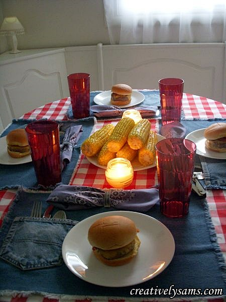 Denim Picnic Tablescape