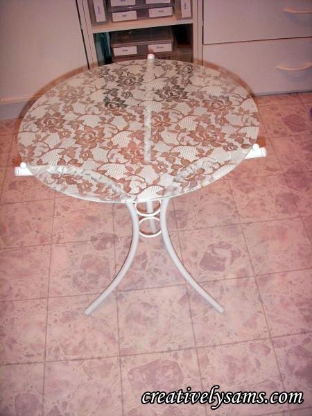 A Lacy Table Finished