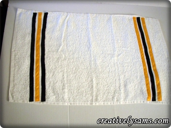 White Steeler Towels