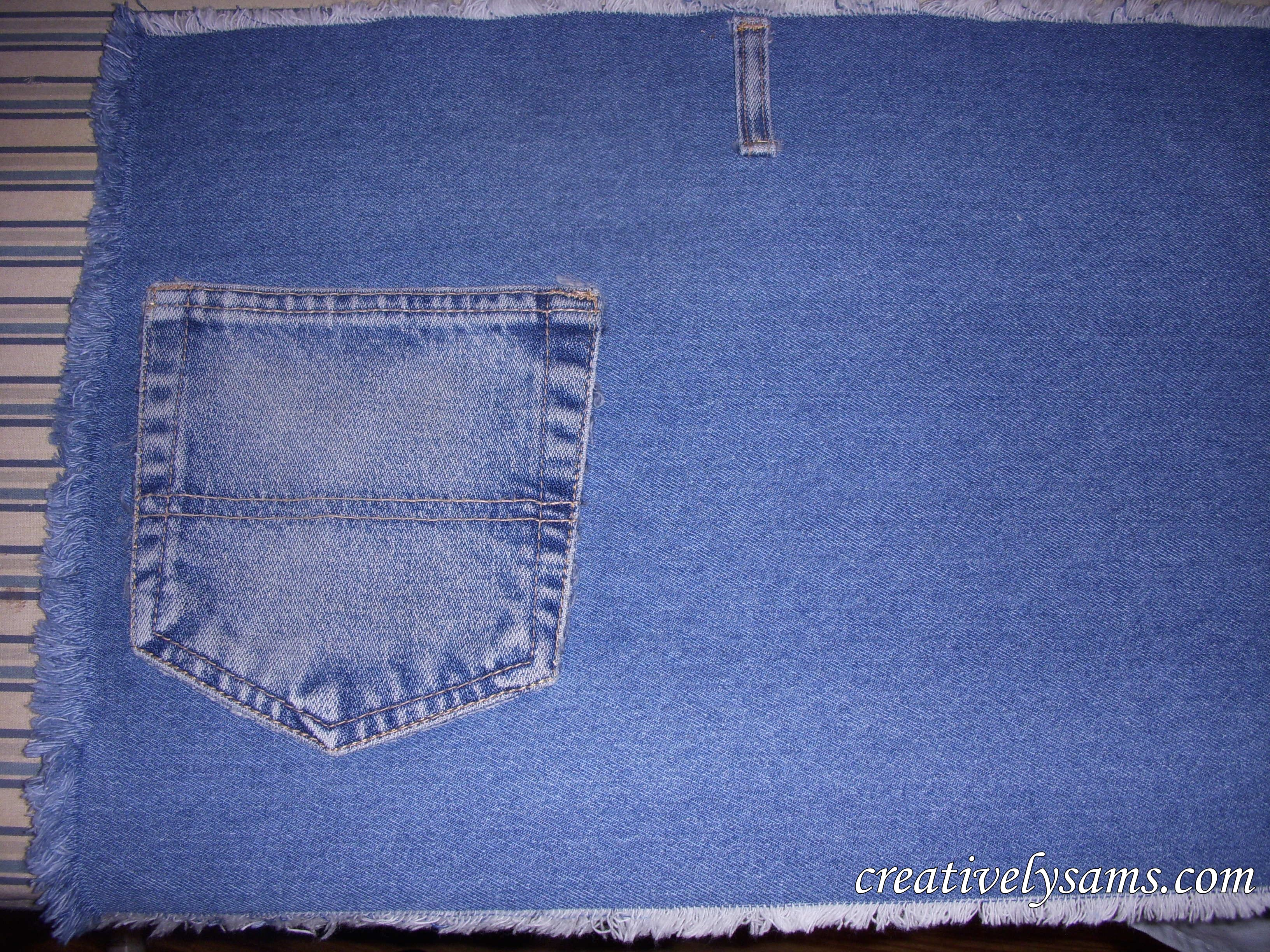 Denim Place Mats Finished