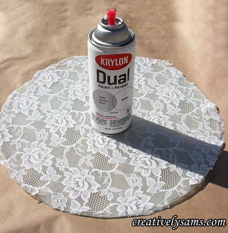 A Lacy Table - Krylon Spray Paint