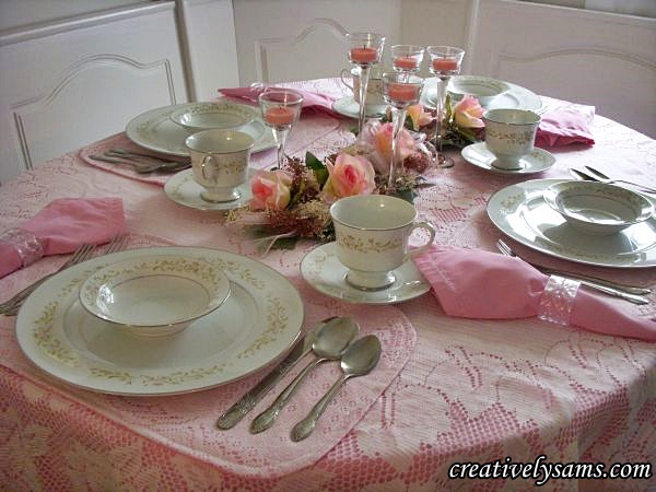 Pretty in Pink Tablescape
