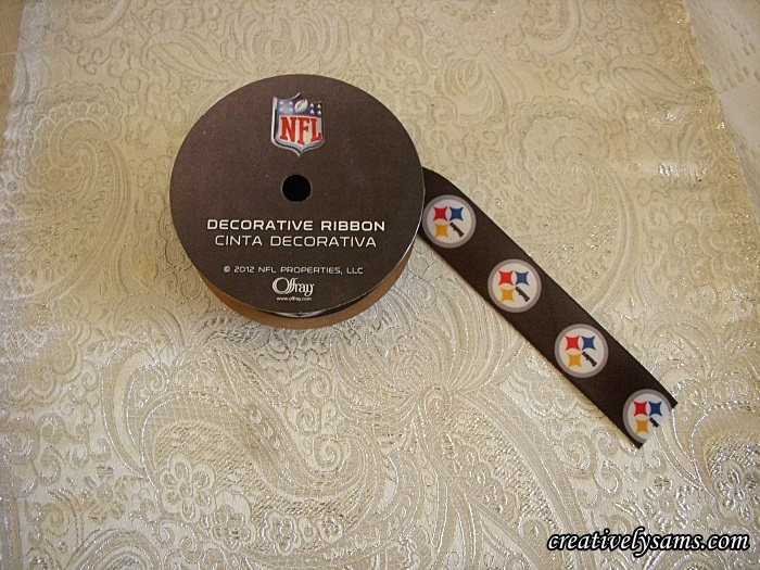 Steeler Towel NFL Ribbon
