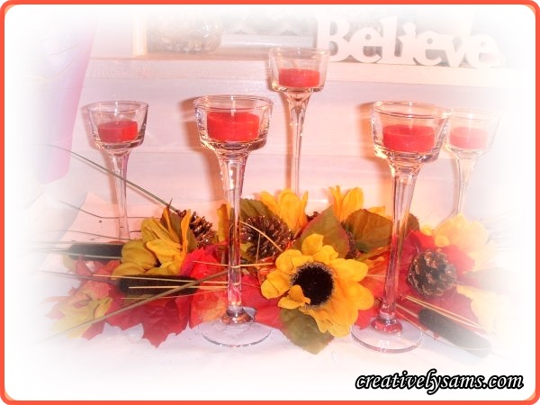 Fall Garland Centerpiece
