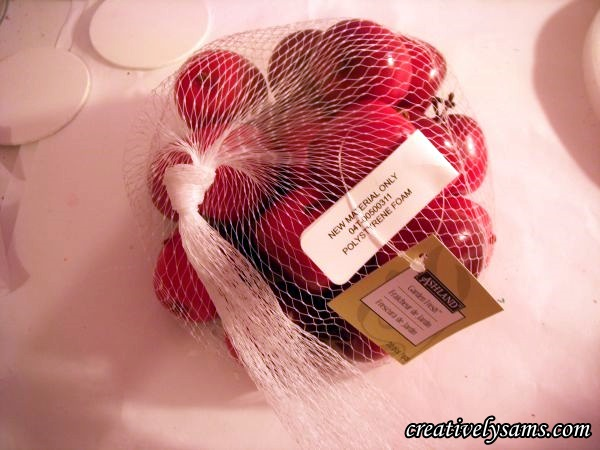 Bag of Apples for Apple Centerpiece