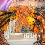 Bringing in the oranges Copper Fall Wreath