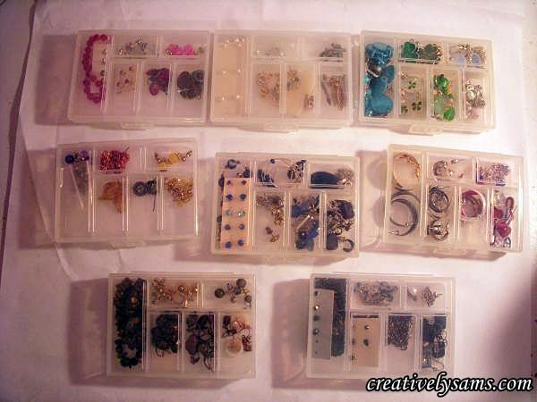 Organizing Earrings Lids Closed