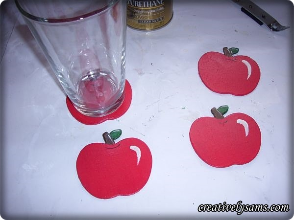 Finished Apple Coasters
