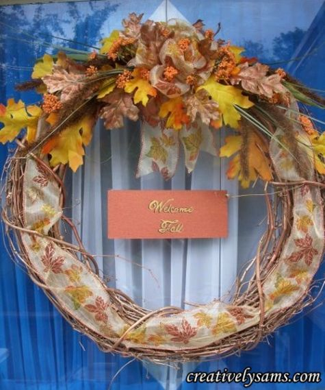 Finished Copper Fall Wreath