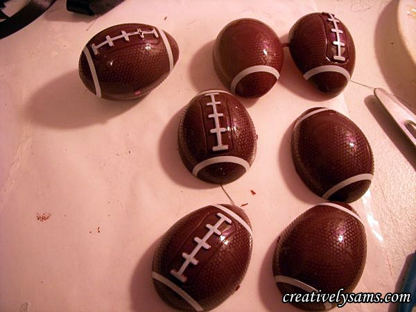 Steeler Centerpiece Football Easter Eggs